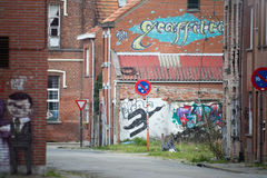 DOEL 5-ОЕ МАРТА: Город-привидение Doel Стоковая Фотография