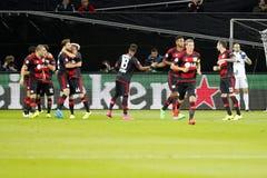 Doel Admir Mehmedi Bayer Leverkusen Royalty-vrije Stock Afbeelding