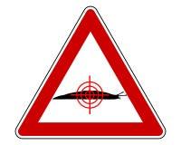 Doel bij naaktslakkenwaarschuwingsbord vector illustratie