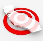 Doel Californië - het Concept van de Marketing royalty-vrije illustratie