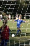 Doel dat van het voetbal wordt het gemaakt Royalty-vrije Stock Afbeelding