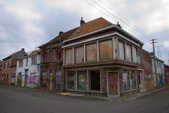 DOEL 5 DE MARZO: El pueblo fantasma de Doel Imagenes de archivo