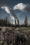 Doel kärnkraftverk, Antwerp, Belgien JANUARI 17 2015 arkivfoto
