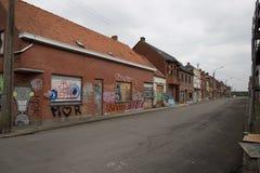 DOEL 5. MÄRZ: Die Geisterstadt von Doel Stockfotos