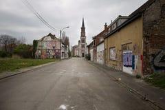 DOEL 5. MÄRZ: Die Geisterstadt von Doel Lizenzfreie Stockfotografie