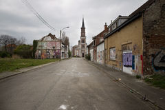 DOEL- MARCH 5: The ghost town of Doel. Royalty Free Stock Photography