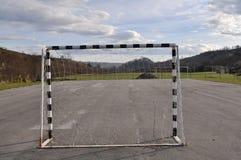 Doel netto futsal openlucht royalty-vrije stock foto's