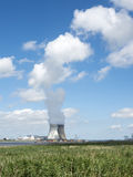 Doel nuclear power plant near river schelde north of antwerp Royalty Free Stock Image