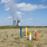 Doel nuclear power plant near river schelde north of antwerp Royalty Free Stock Photography