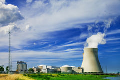 Doel Nuclear Power Station Royalty Free Stock Photos