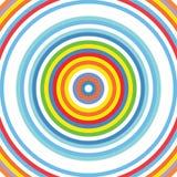 Doel om van de Achtergrond cirkelregenboog Patroon vector illustratie