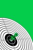 Doel op groene achtergrond Royalty-vrije Stock Afbeelding