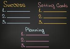 Doel plaatsend Planningssucces royalty-vrije illustratie