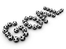 Doel - Soccerballs Stock Fotografie