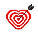 Doel in vorm van hart stock illustratie