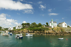 Doelan port le pouldu in brittany Stock Photography