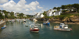Doelan port le pouldu in brittany Stock Image
