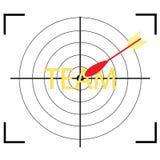 Doelpictogram met woordteam Stock Afbeeldingen