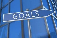 doelstellingen Stock Afbeelding