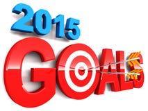 2015 doelstellingen Stock Afbeeldingen