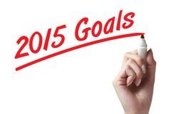 2015 doelstellingen Royalty-vrije Stock Afbeelding