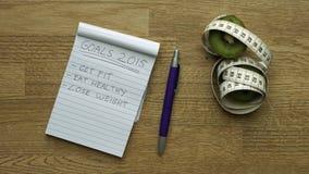 Doelstellingen 2015 Stock Afbeeldingen