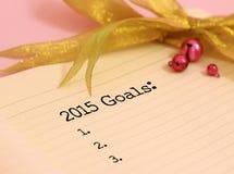 2015 doelstellingen Royalty-vrije Stock Fotografie