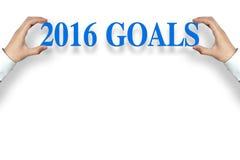 2016 doelstellingen Stock Foto's