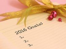 2016 doelstellingen Stock Afbeeldingen