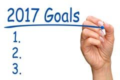 2017 doelstellingen Royalty-vrije Stock Foto
