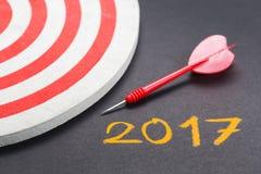 2017 doelstellingen Stock Afbeelding