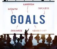 Doelstellingen Bedrijfstrategie Marketing Concept royalty-vrije stock afbeelding
