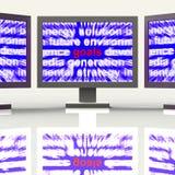 Doelstellingen het Monitorsmiddel streeft Doelstellingen en Aspiraties vector illustratie