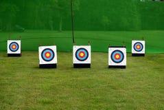 doelstellingen Openlucht spel Sportboogschieten Stock Afbeelding