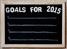 Doelstellingen voor 2015 - het nieuwe concept van jaarplannen Royalty-vrije Stock Afbeeldingen