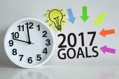 Doelstellingen voor het nieuwe jaar van 2017 Stock Foto