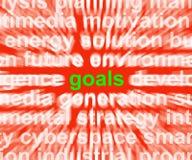 Doelstellingen Word betekent Doelstellingen Doelstellingen en Aspiraties vector illustratie