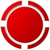 Doelteken, dradenkruis, crosshair pictogram voor nadruk, nauwkeurigheid, doel stock illustratie