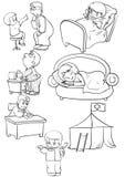 Doença ilustração royalty free