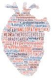 Doença cardíaca Doença cardiovascular Coração das palavras Arrythmia Fotografia de Stock Royalty Free