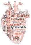 Doença cardíaca Doença cardiovascular Coração das palavras Arrythmia ilustração do vetor