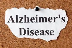 Doença de Alzheimer Imagem de Stock