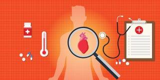 Doença do cardíaco de ataque com relatório médico Imagens de Stock