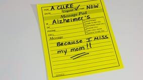 Doença do ` s de Alzheimer Imagens de Stock Royalty Free