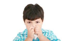 Doença fria da gripe da criança Fotos de Stock Royalty Free