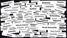 doenças ilustração stock