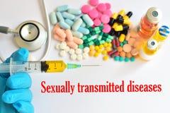 Doenças de transmissão sexual foto de stock