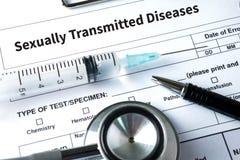 Doenças de transmissão sexual VIH, HBV, HCV, sífilis STD, ST foto de stock