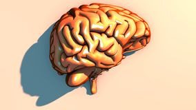 Doenças degenerativos do cérebro, Parkinson, sinapses, neurônios, ` s de Alzheimer Imagens de Stock