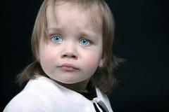 Doen schrikken baby stock foto